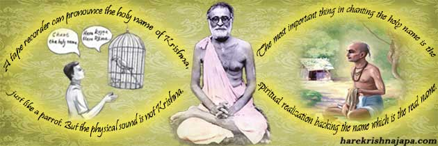 Shrila Bhaktisiddhanta on mechanical chanting