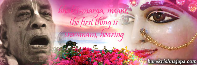 Bhakti starts with hearing