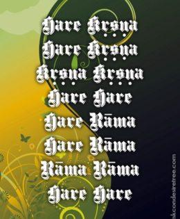 Hare Krishna Maha Mantra in Spanish 026