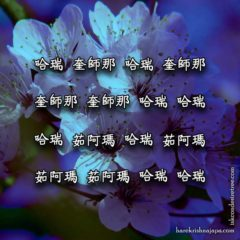 Hare Krishna Maha Mantra in Chinese 004