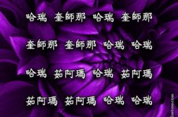 Hare Krishna Maha Mantra in Chinese 005