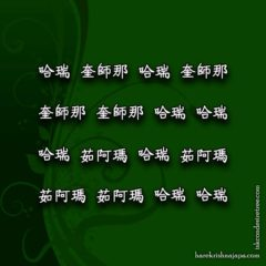Hare Krishna Maha Mantra in Chinese 006
