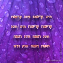 Hare Krishna Maha Mantra in Hebrew 001