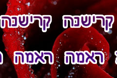 Hare Krishna Maha Mantra in Hebrew 002
