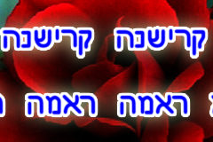 Hare Krishna Maha Mantra in Hebrew 003