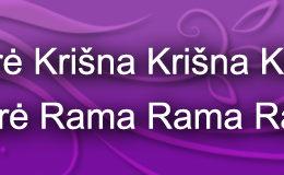 Hare Krishna Maha Mantra in Lithuanian 003