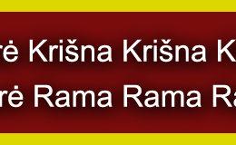 Hare Krishna Maha Mantra in Lithuanian 004