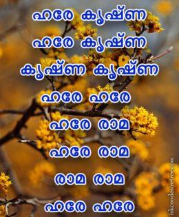 Hare Krishna Maha Mantra in Malayalam 003
