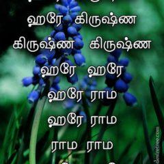 Hare Krishna Maha Mantra in Tamil 002