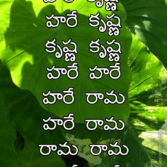 Hare Krishna Maha Mantra in Telugu 007