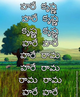 Hare Krishna Maha Mantra in Telugu 024