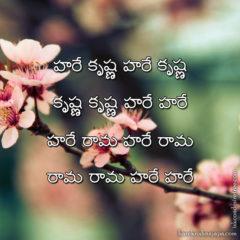 Hare Krishna Maha Mantra in Telugu 010