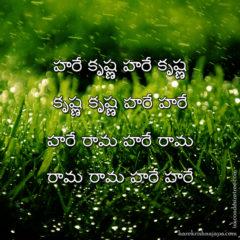 Hare Krishna Maha Mantra in Telugu 014