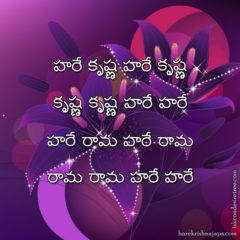 Hare Krishna Maha Mantra in Telugu 016