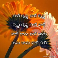 Hare Krishna Maha Mantra in Telugu 017