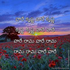 Hare Krishna Maha Mantra in Telugu 019